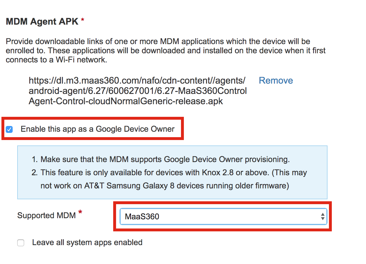 Setup Guides: KME to Device Owner (Android Enterprise)