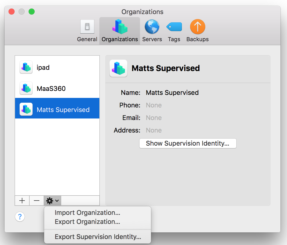 Tips, Tricks, and Helpful Features: Supervised Profile Export