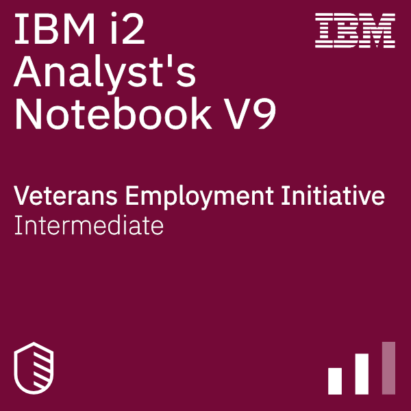 IBM i2 Analyst Notebook V9 Foundations badge logo
