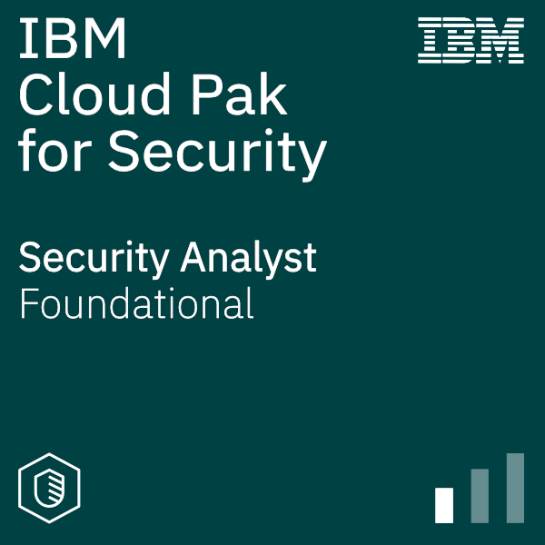 Cloud Pak for Security - Security Analyst logo graphic