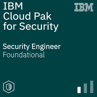 Cloud Pak for Security Security Engineer badge logo