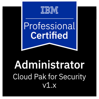 Cloud Pak for Security Administrator certification logo