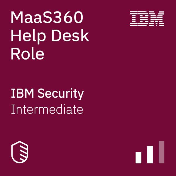 MaaS360 Help Desk Role badge logo