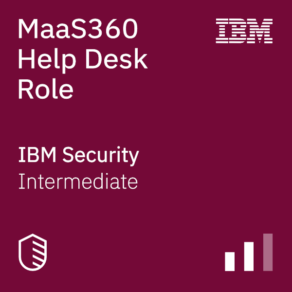 MaaS360 Help Desk Role badge